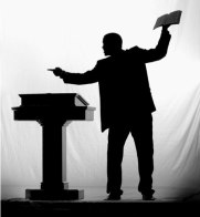 preacher in pulpit